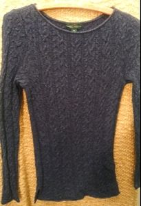 Lauren Jeans & Co Soft Cable Fitted Sweater